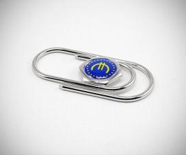 Fermasoldi acciaio LeCuff, Fermasoldi personalizzato con logo iniziali foto clip piegato a mano