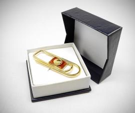 Fermasoldi dorati - LeCuff Fermasoldi oro clip piegato a mano Moneta