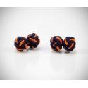 Gemelli in stoffa nodo arancio/blu