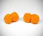 Gemelli in stoffa nodo arancione