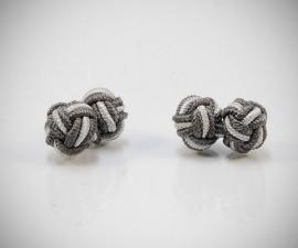 Gemelli per camicia in stoffa nodo in seta tessuto economici LeCuff, gemelli tessuto