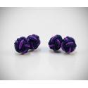 Gemelli in stoffa nodo blu/viola