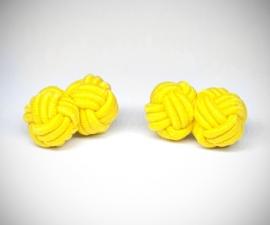 Gemelli nodo in tessuto LeCuff, Gemelli in stoffa per camicia nodo in seta tessuto LeCuff