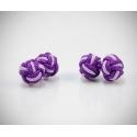 Gemelli in stoffa nodo rosa/viola