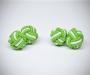Gemelli in stoffa nodo verde/bianco