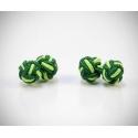 Gemelli in stoffa nodo verde/pistacchio