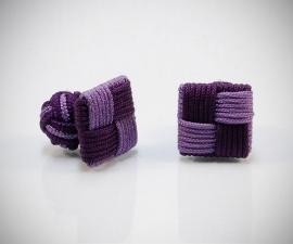 gemelli cordonati in stoffa LeCuff, Gemelli per camicia in stoffa quadro in seta tessuto economici LeCuff