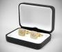 Gemelli personalizzati con incisione a punta di diamante di iniziali/testo/logo LeCuff
