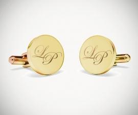 gemelli personalizzati matrimoni LeCuff, Gemelli per camicia personalizzati con Gemelli per camicia personalizzatiincisione a punta di diamante LeCuff