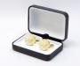 Gemelli da polso personalizzati con incisione a punta di diamante di iniziali/testo/logo LeCuff