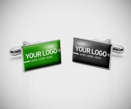 Gemelli personalizzati LeCuff, Gemelli personalizzati con la tua immagine/logo/foto incastonata nei gemelli con resina lucida effetto vetro LeCuff