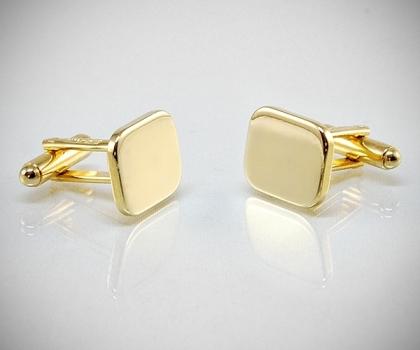 Gemelli per camicia rettangolari lisci oro