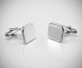 gemelli in acciaio LeCuff, Gemelli per camicia da polso rettangolari lisci