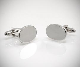 gemelli in acciaio LeCuff, Gemelli per camicia da polso ovali lisci