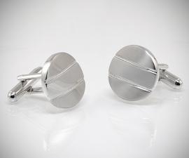 gemelli in acciaio LeCuff, Gemelli per camicia a righe satinati da polso