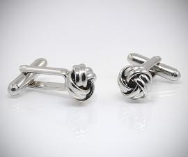 gemelli in acciaio LeCuff, Gemelli per camicia con nodo acciaio da polso