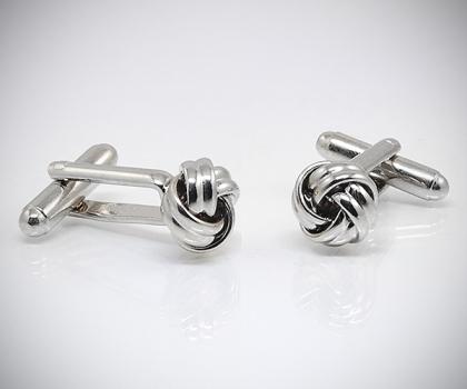 detailed look bc766 88e73 Gemelli per camicia con nodo acciaio
