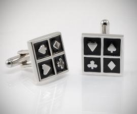 gemelli in acciaio LeCuff, Gemelli per camicia Poker d'Assi da polso