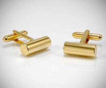 Gemelli per camicia barra tonda oro