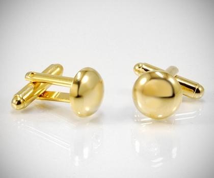 Gemelli per camicia bombati lisci oro