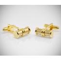 Gemelli per camicia cilindro lavorato in oro