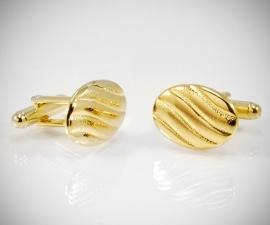 gemelli da polso LeCuff, Gemelli per camicia a onde oro da polso