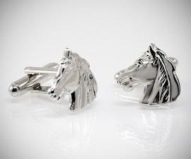 gemelli da uomo LeCuff, Gemelli per camicia da polso Cavallo acciaio