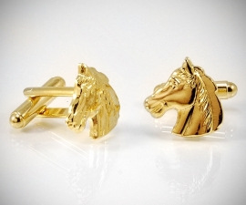 Gemelli per camicia dorati LeCuff, Gemelli per camicia Cavallo dorati da polso