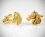 Gemelli per camicia Cavallo dorati da polso