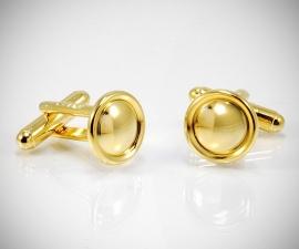 gemelli classici LeCuff, Gemelli per camicia rotondi con bordi da polso in oro