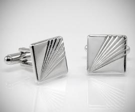gemelli classici LeCuff, Gemelli per camicia a righe diagonali in acciaio da polso