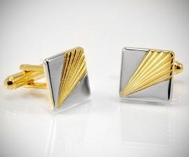 gemelli classici LeCuff, Gemelli per camicia freccia da polso oro e acciaio