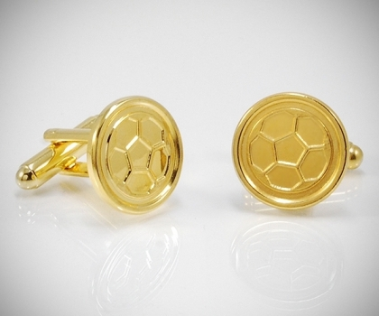 Gemelli per camicia Pallone da calcio dorati