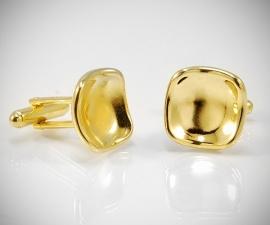 gemelli in oro LeCuff, Gemelli per camicia da polso rivoltati concavi