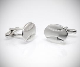 gemelli in acciaio LeCuff, Gemelli per camicia a farfalla ovali da polso