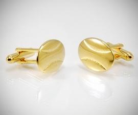 gemelli per polsini LeCuff, Gemelli per camicia a farfalla ovali dorati da polso