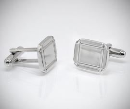 gemelli da uomo LeCuff, Gemelli per camicia diamantati 4 righe da polso