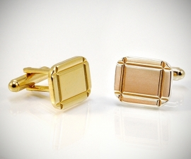 gemelli da sposo LeCuff, Gemelli per camicia diamantati 4 righe dorati da polso