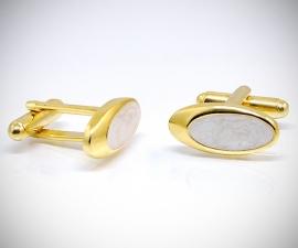 gemelli smoking LeCuff, Gemelli per camicia ovale smalto in oro da polso