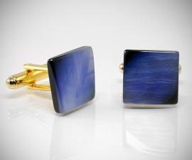 gemelli in acciaio LeCuff, Gemelli per camicia pietra quadrata da polso