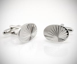 gemelli per polsini LeCuff, Gemelli da polso per camicia ovali diamantati