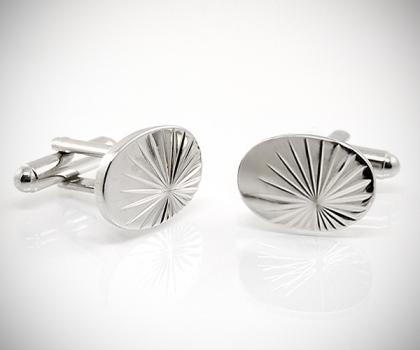Gemelli per camicia ovali diamantati