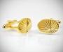 Gemelli per camicia ovali diamantati oro