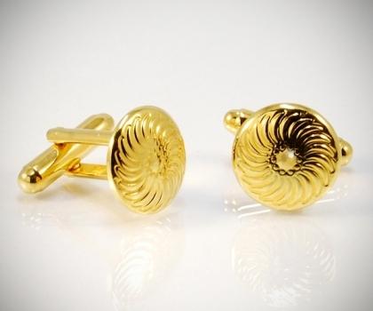 Gemelli per camicia Arabeque tondi oro