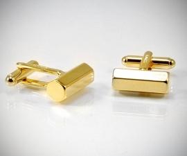 gemelli per matrimonio LeCuff, Gemelli per camicia da polso barra esagonale in oro