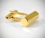 Gemelli per camicia da polso barra esagonale in oro