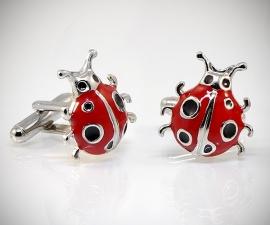 gemelli da uomo LeCuff, Gemelli per camicia da polso Coccinella rossa