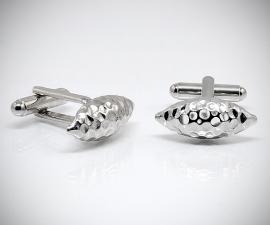 gemelli in acciaio LeCuff, Gemelli da polso per camicia martellato