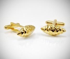 gemelli per polsini LeCuff, Gemelli per camicia da polso martellato in oro