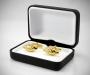 Gemelli per camicia da polso martellato in oro